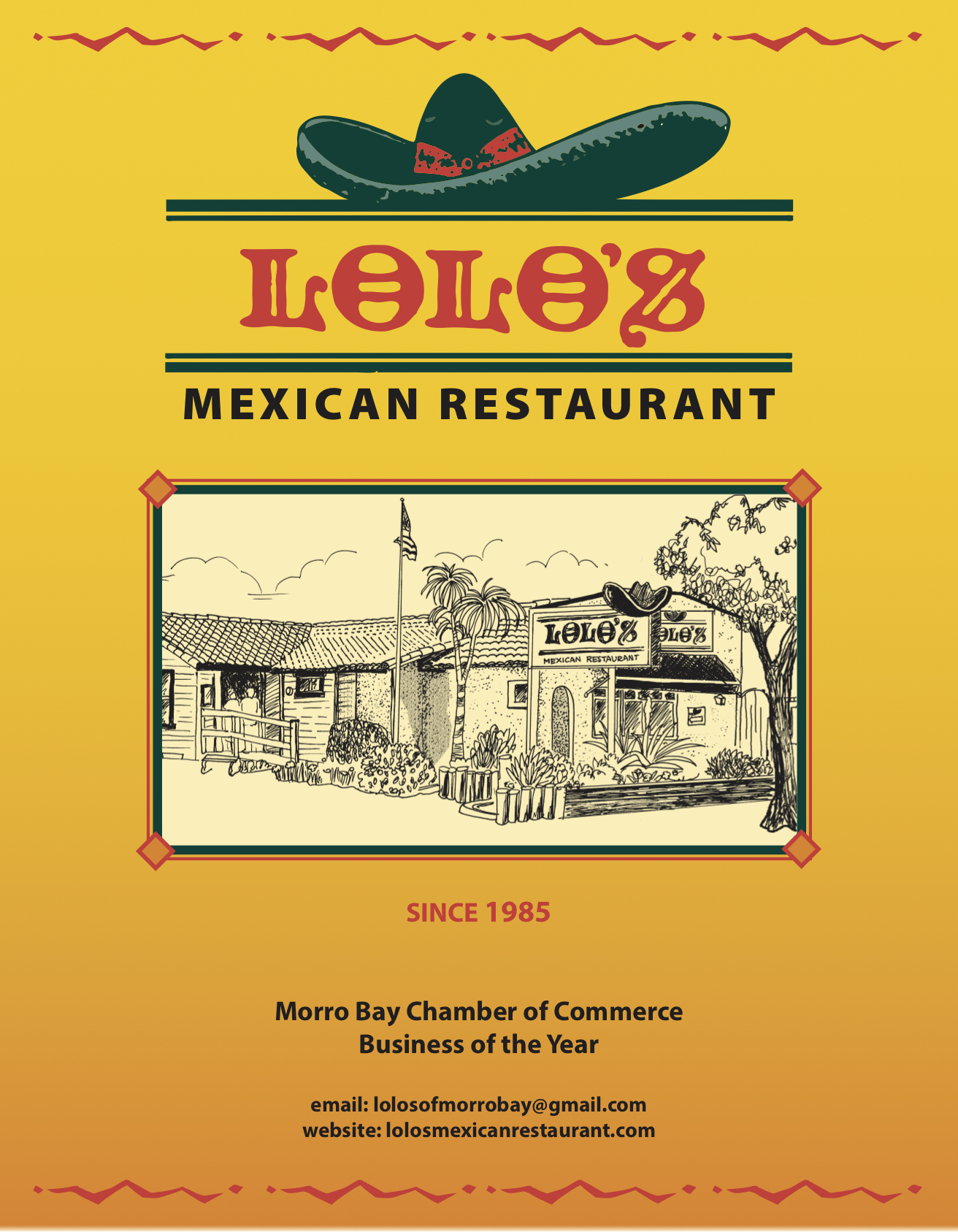 Lolos mexican restaurant Lunch and Dinner Menu